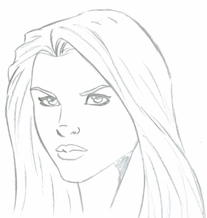 668x702 Supergirl Face Sketck By Faust40