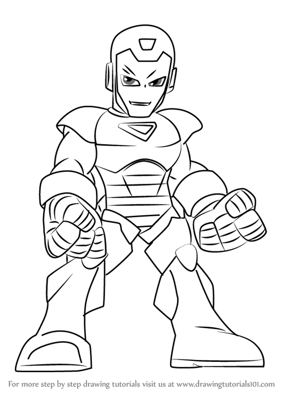 567x800 Learn How To Draw Iron Man From The Super Hero Squad Show (The