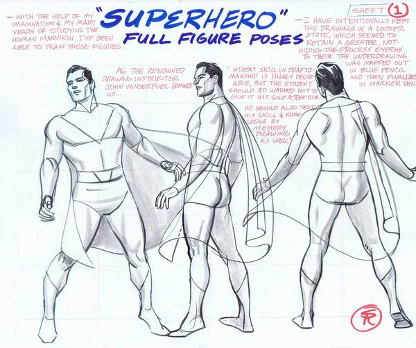600x501 New Superhero Drawing Poses Now Available For Purchase Steve