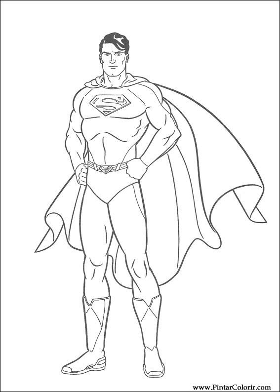 Super Man Drawing