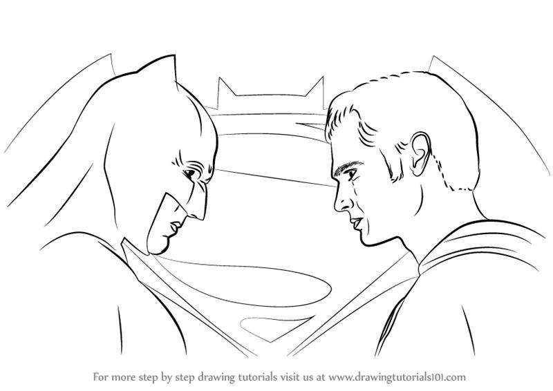 800x566 Learn How To Draw Batman Vs Superman (Batman V Superman Dawn