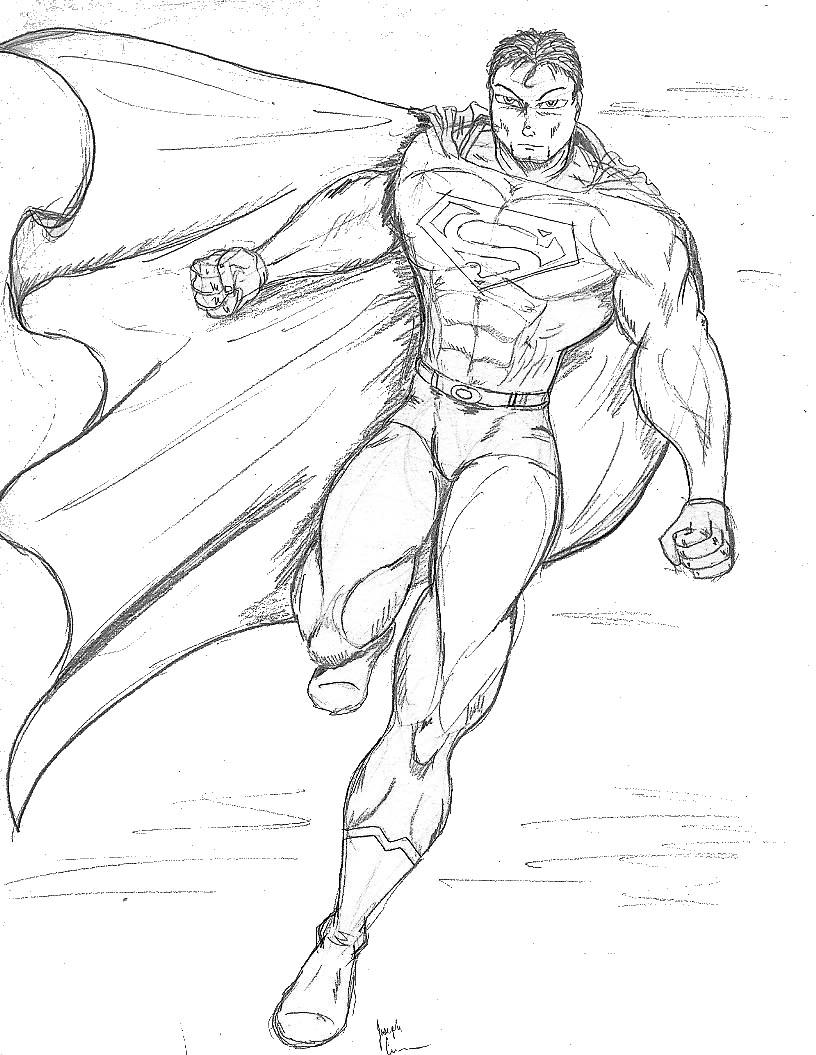 816x1055 Superman Drawing In Pencil Superman Drawings In Pencil Easy Top