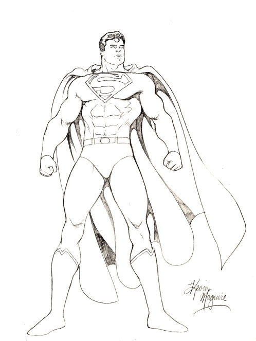 498x663 Kevin Maguire Superman Drawing, In Wallace Harrington's Superman