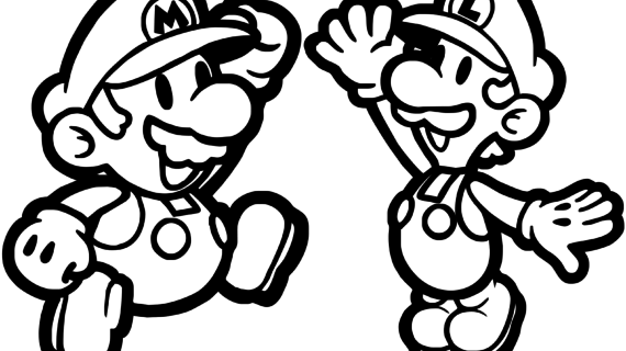 570x320 Mario And Luigi Drawing How To Draw Luigi [Super Mario] Drawing
