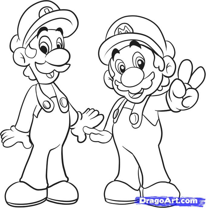681x687 Mario Drawings How To Draw Mario Bros Step 6 Me
