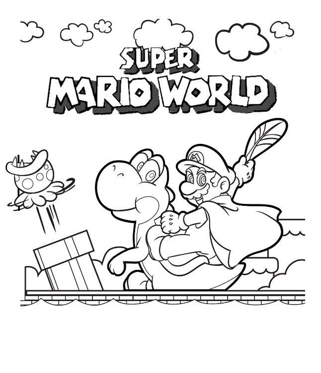 646x752 Speed Draw Super Mario World