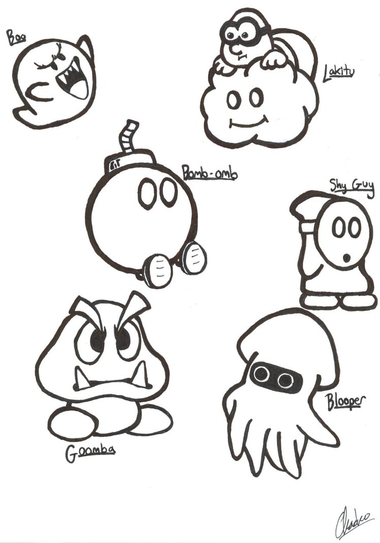 748x1067 Super Mario Sketches, Part I By Justchacko