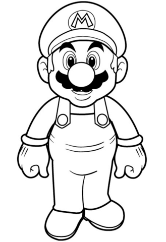 329x480 Super Mario Coloring Page Free Printable Coloring Pages