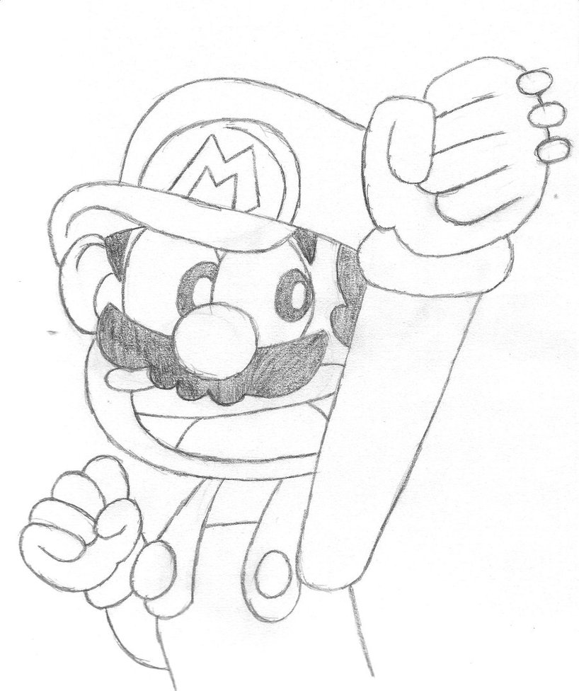 818x976 Super Mario Kun Drawing By Lulikat15