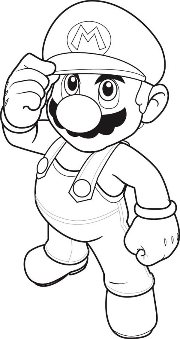 600x1131 How To Draw Super Mario Brothers Coloring Page Color Luna