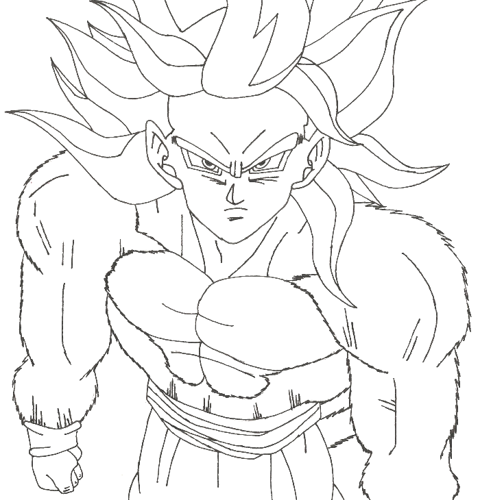 Super Saiyan 4 Drawing at GetDrawings.com | Free for personal use ...