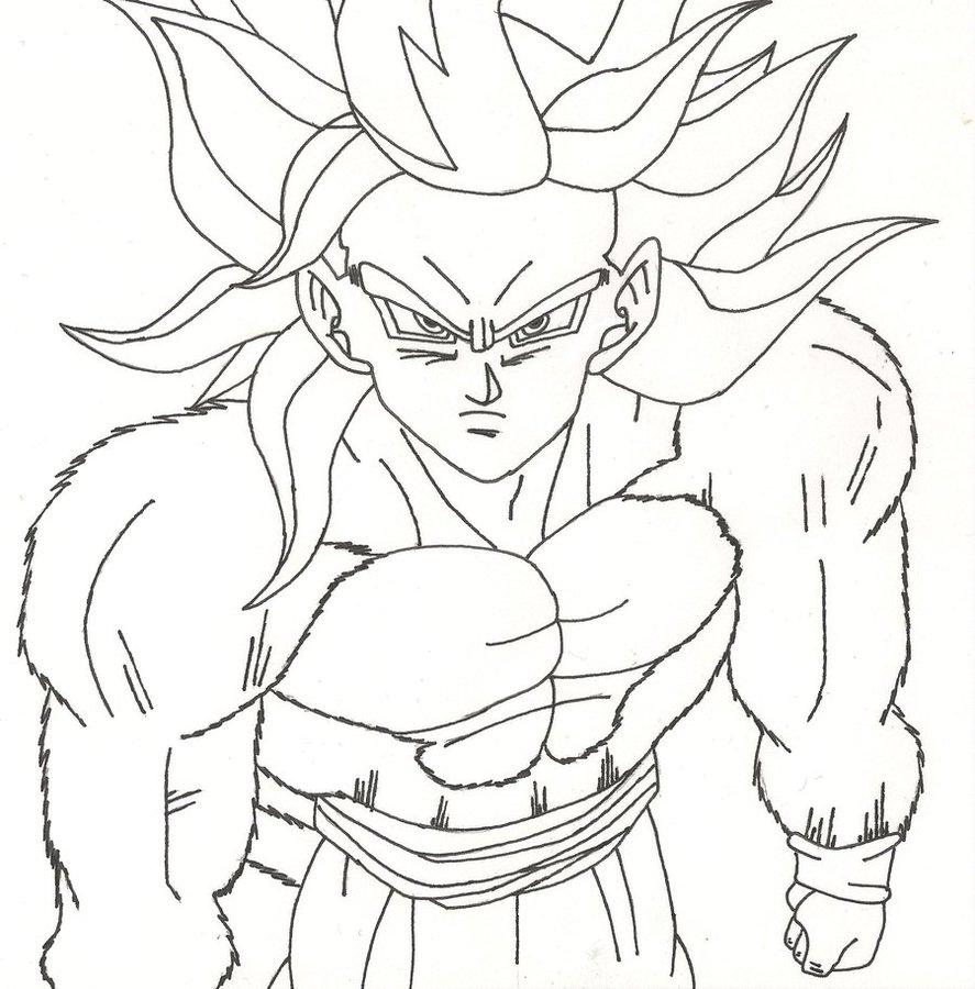 887x900 How To Draw Super Saiyan 4 Goku Chibi Goku Super Saiyan 4