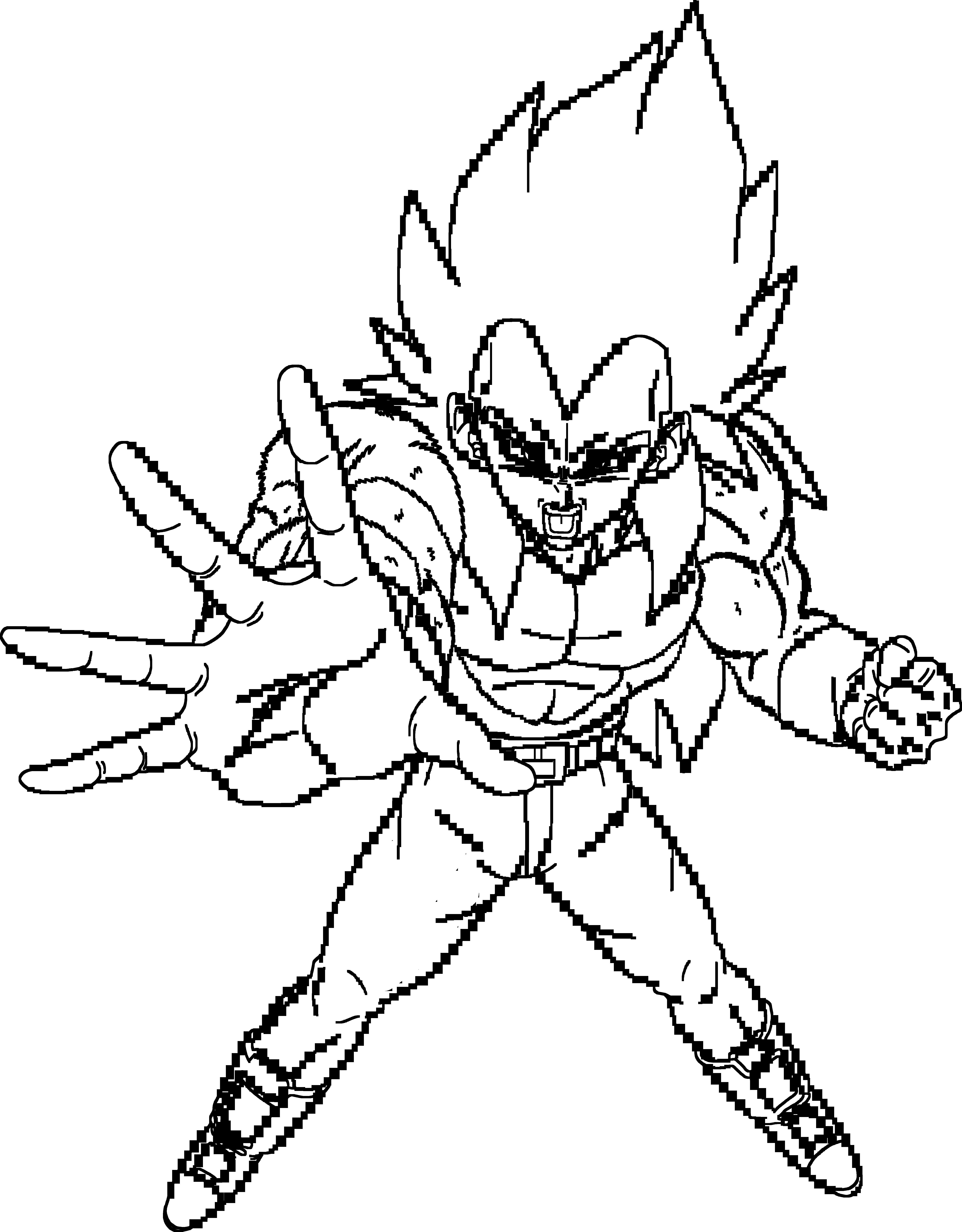 5750x7362 Super Saiyan 4 Vegeta Lineart By Brusselthesaiyan