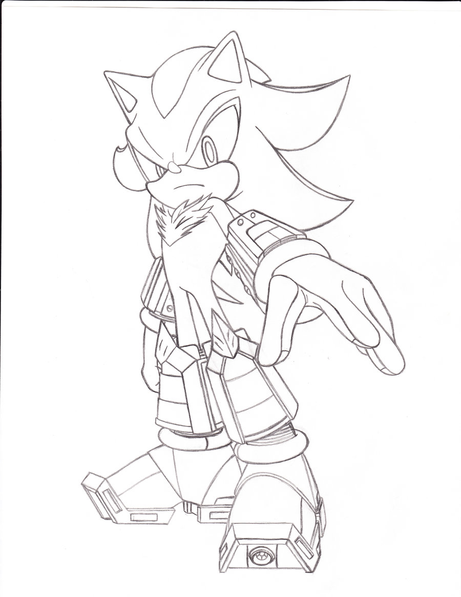 900x1165 Shadow The Hedgehog Different Coloring Shadow The Hedgehog