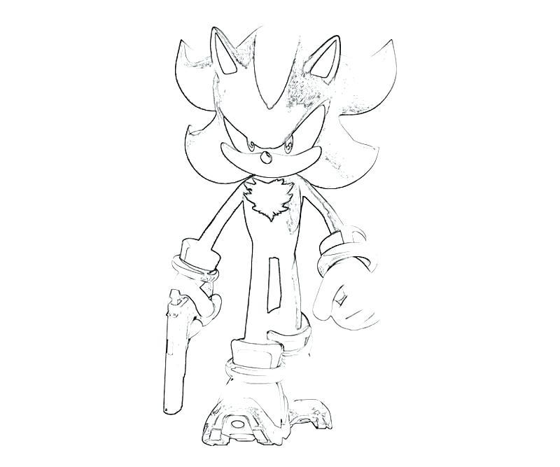 800x667 Shadow The Hedgehog Coloring Page Sonic The Hedgehog Printable