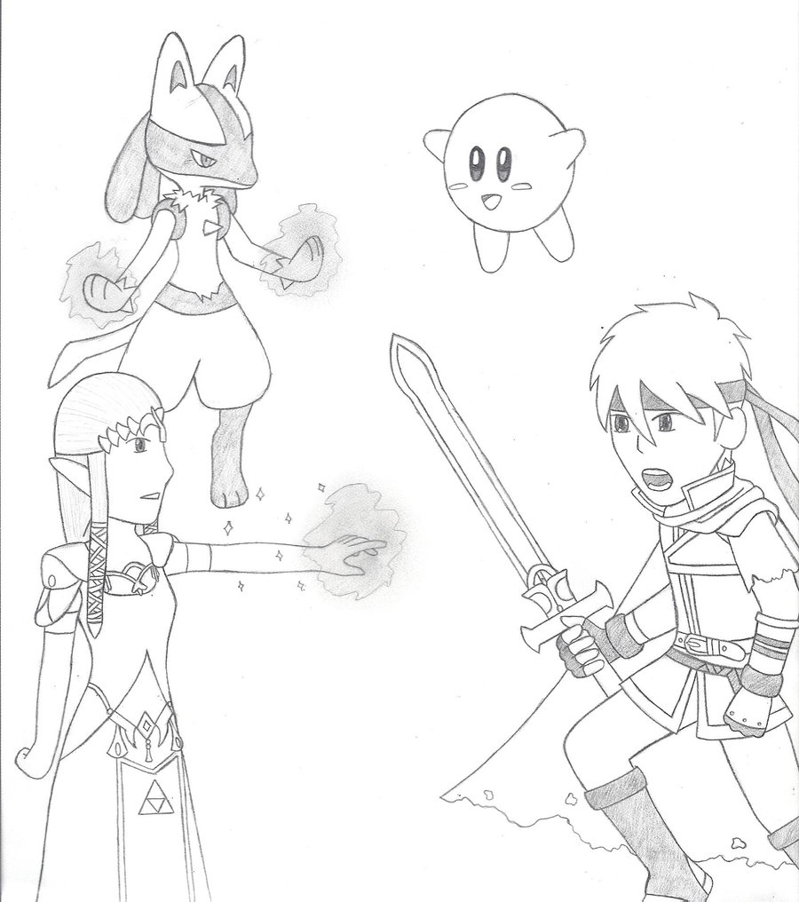 Super Smash Bros Drawing at GetDrawings.com | Free for personal use ...