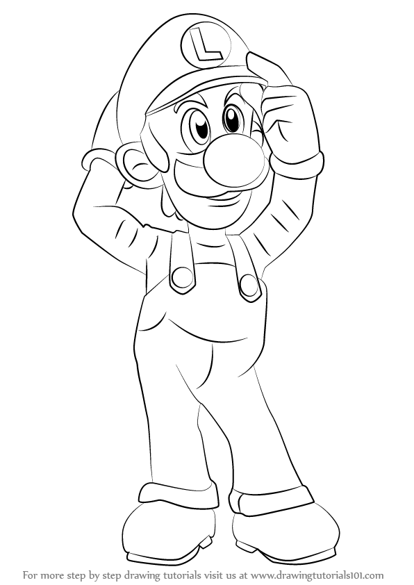 596x842 Learn How To Draw Luigi From Super Smash Bros (Super Smash Bros