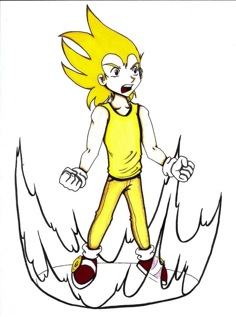 771x1036 Human Super Sonic By Xaolin26