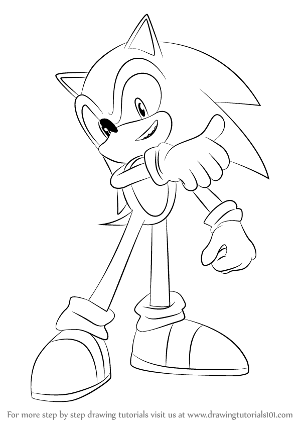 598x844 Learn How To Draw Sonic From Super Smash Bros (Super Smash Bros