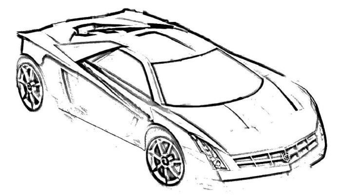 700x401 Cadillac Supercars Coloring Page Coloring Pages