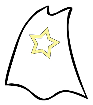 superhero cape drawing at getdrawings com free for personal use rh getdrawings com superhero cape clipart black and white Flying Superhero Cape