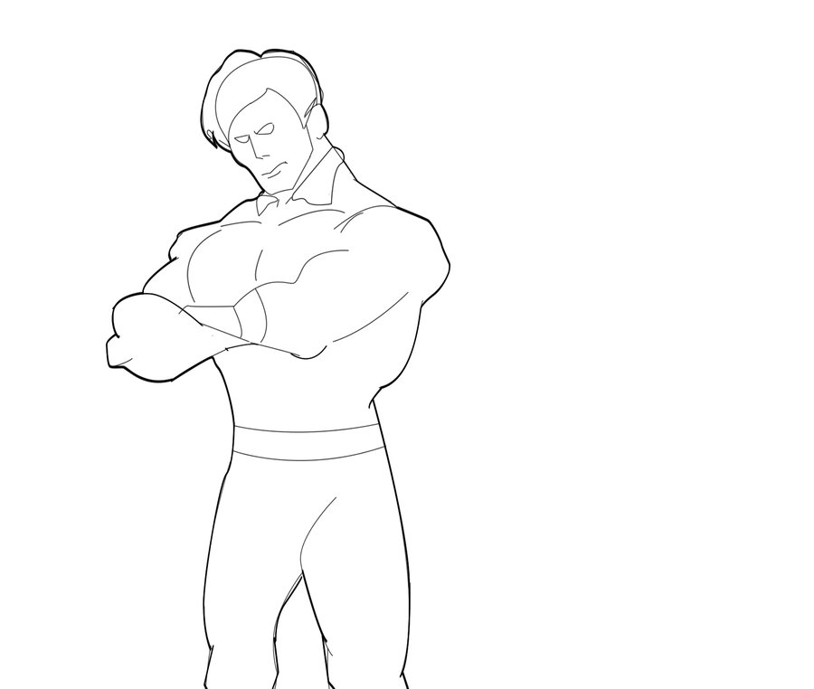 900x762 Superhero (Outline) By Sharirey