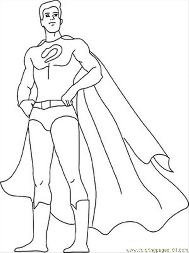 650x866 Superhero Coloring Page