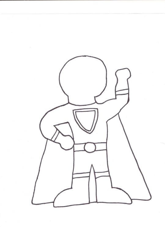 Super Hero Template | Superhero Drawing Outline At Getdrawings Com Free For Personal Use