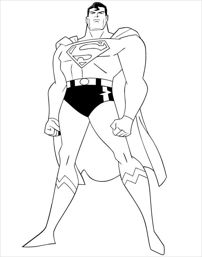 680x867 Superhero Coloring Pages