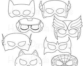 340x270 Superhero Mask Etsy