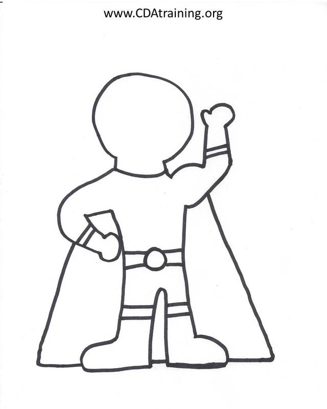 Superhero Drawing Template at GetDrawings.com | Free for personal ...