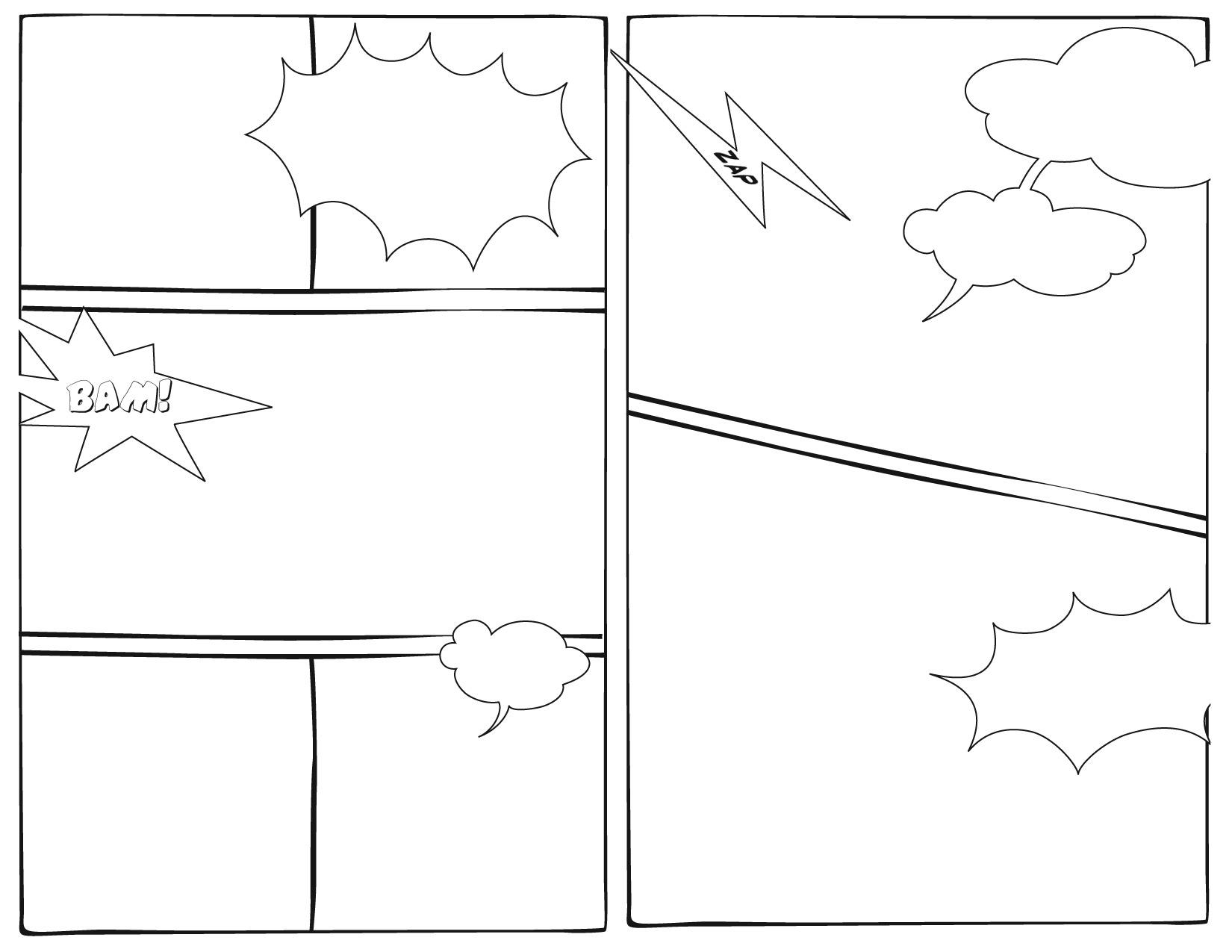 1650x1275 Comic Book Template
