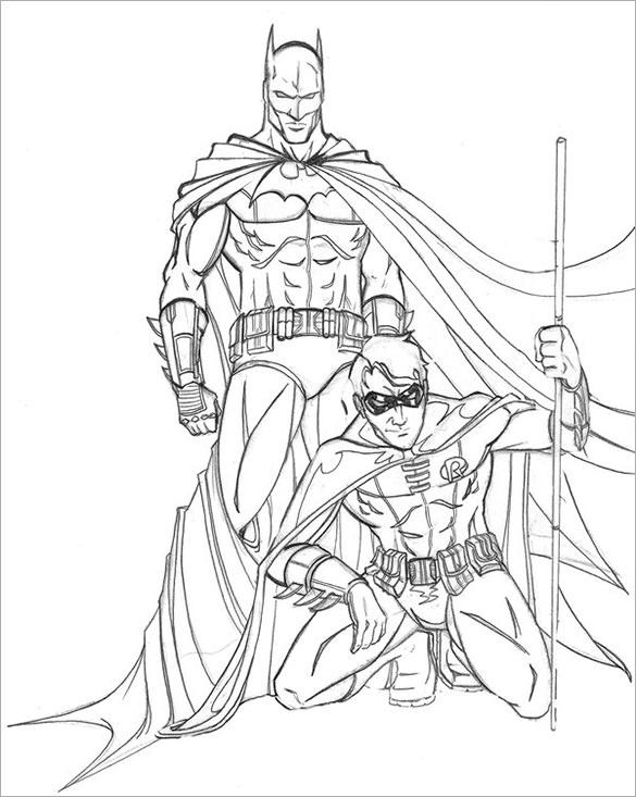 585x733 Drawn Robin Superhero