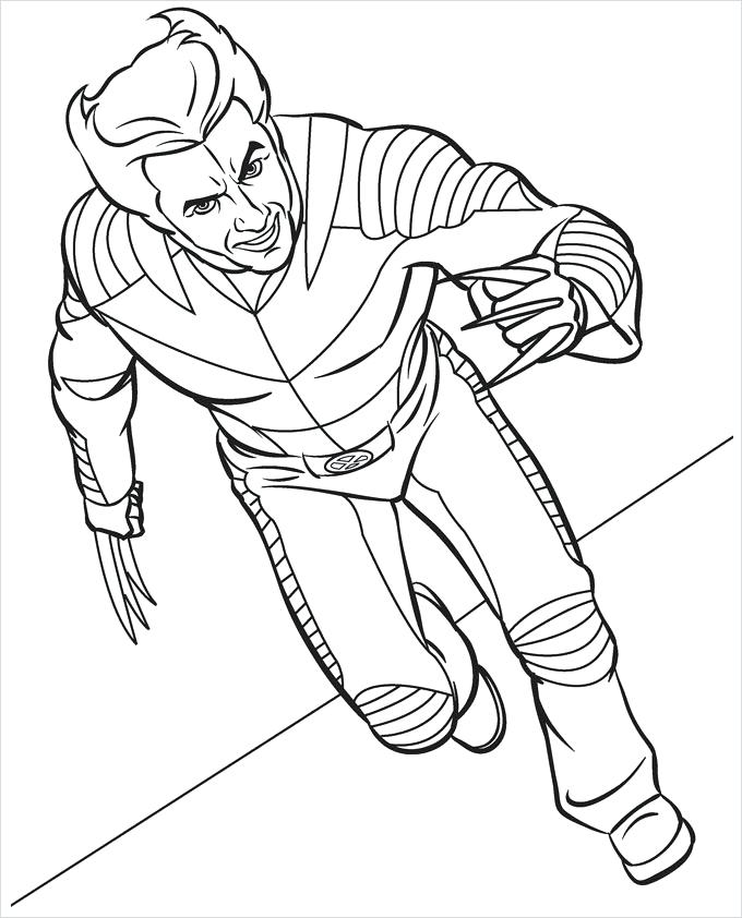 680x842 Superhero Coloring Pages Free Premium Templates