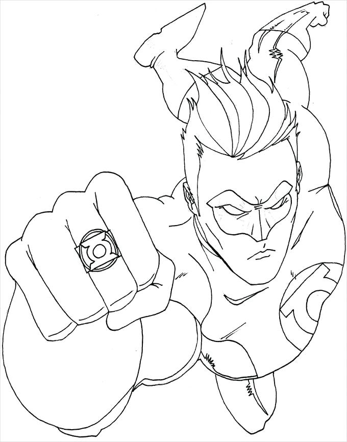 680x866 Unbelievable Amazing Dc Superhero Coloring Pages Fee Green Free