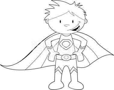 379x300 Colour It In Super Hero Template Stock Vectors