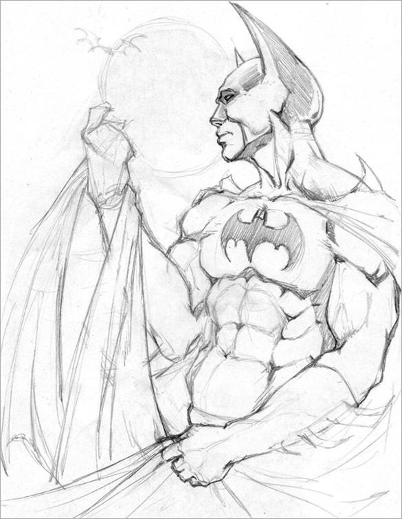 585x754 Fantastic Batman Drawings Download! Free Amp Premium Templates