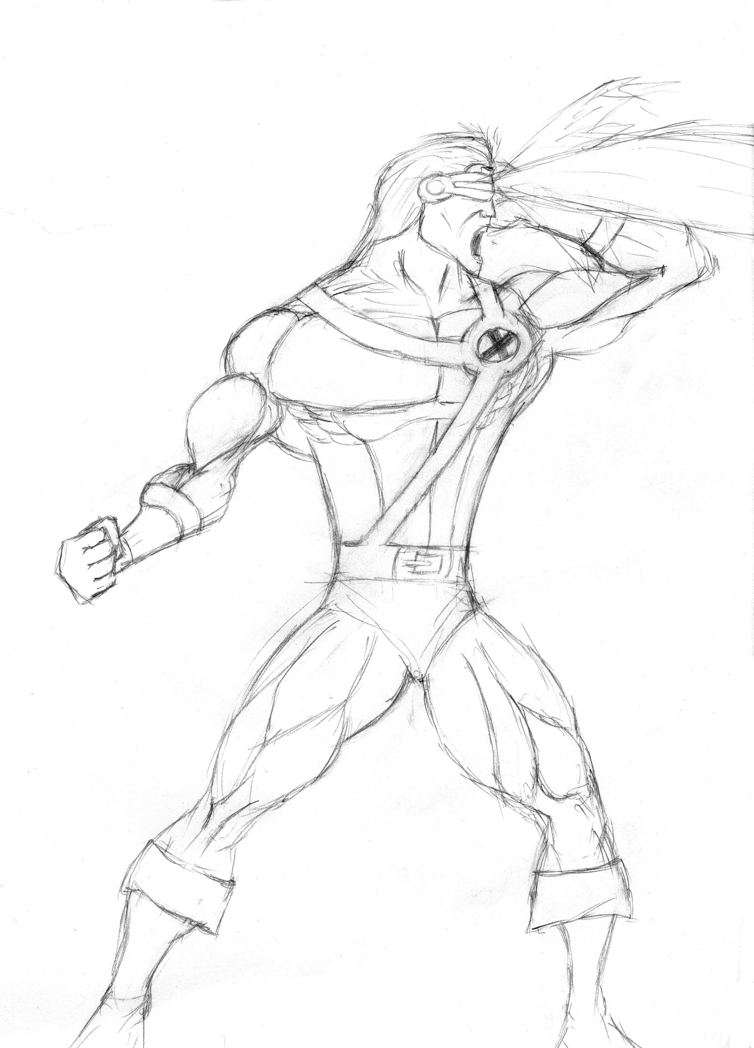 2450x3404 Challenge Week 01 Cyclops Superhero Throwdown