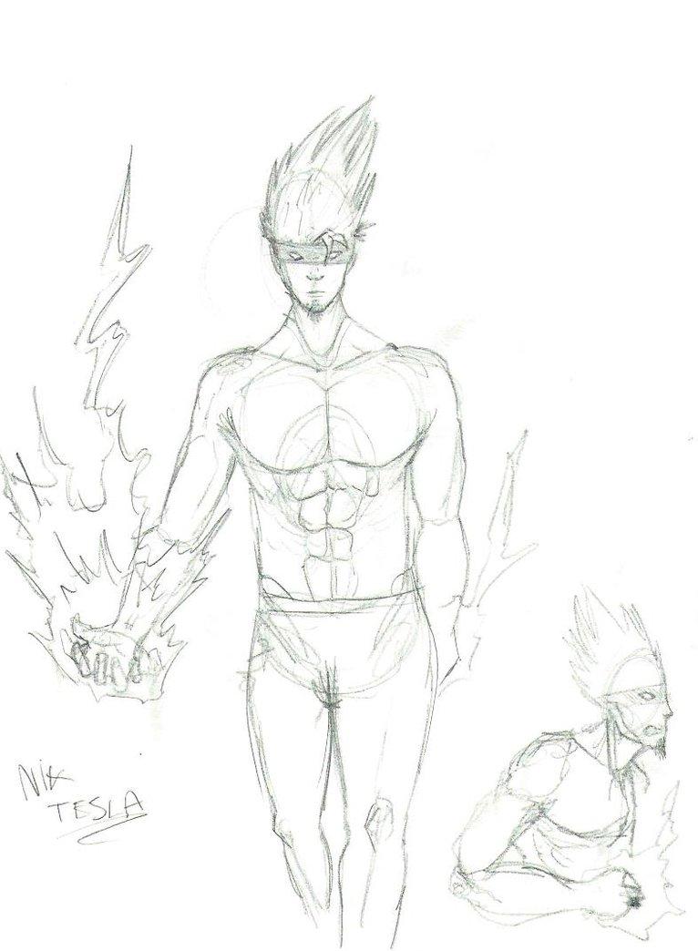 766x1044 Super Hero Concept Nick Tesla By Doc Cthulu
