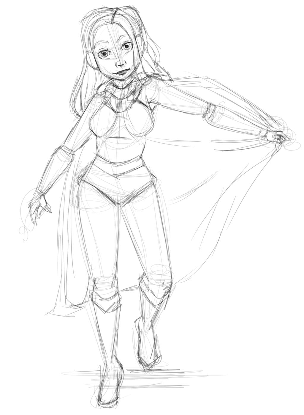 1024x1396 Superhero Girl