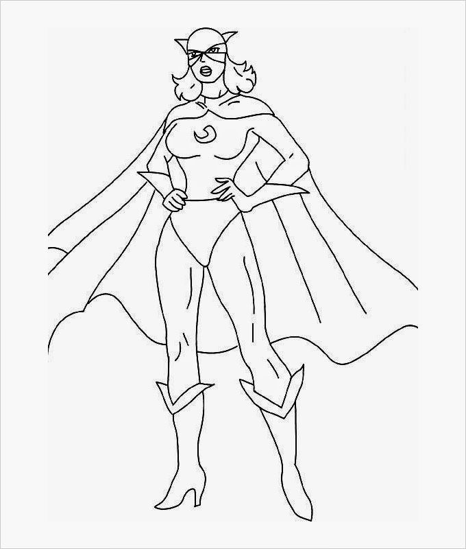 Superhero Girl Drawing