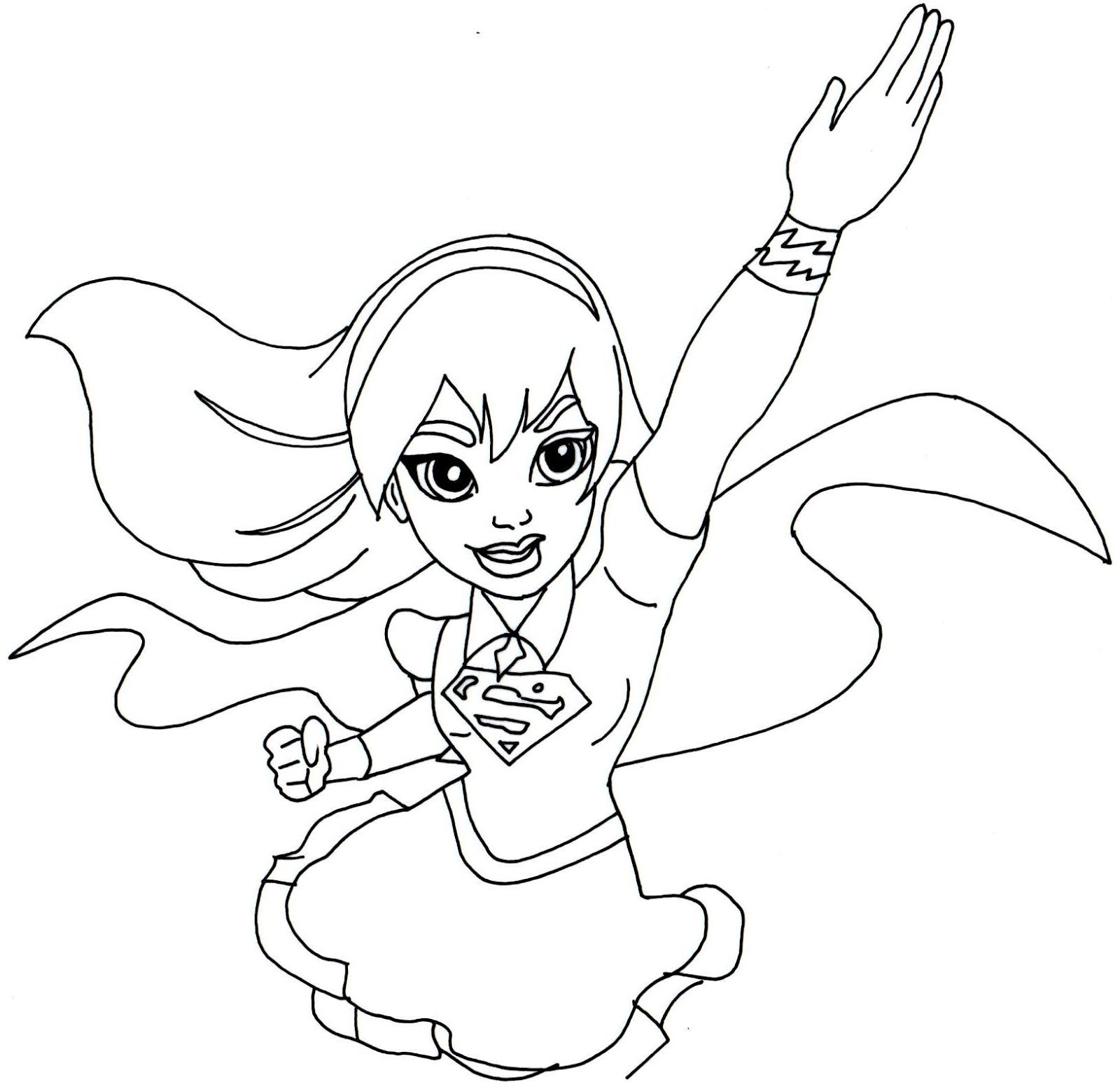 1600x1555 Free Printable Super Hero High Coloring Pages Supergirl Super