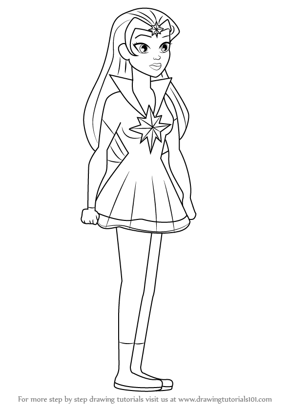 596x843 Learn How To Draw Star Sapphire From Dc Super Hero Girls (Dc Super