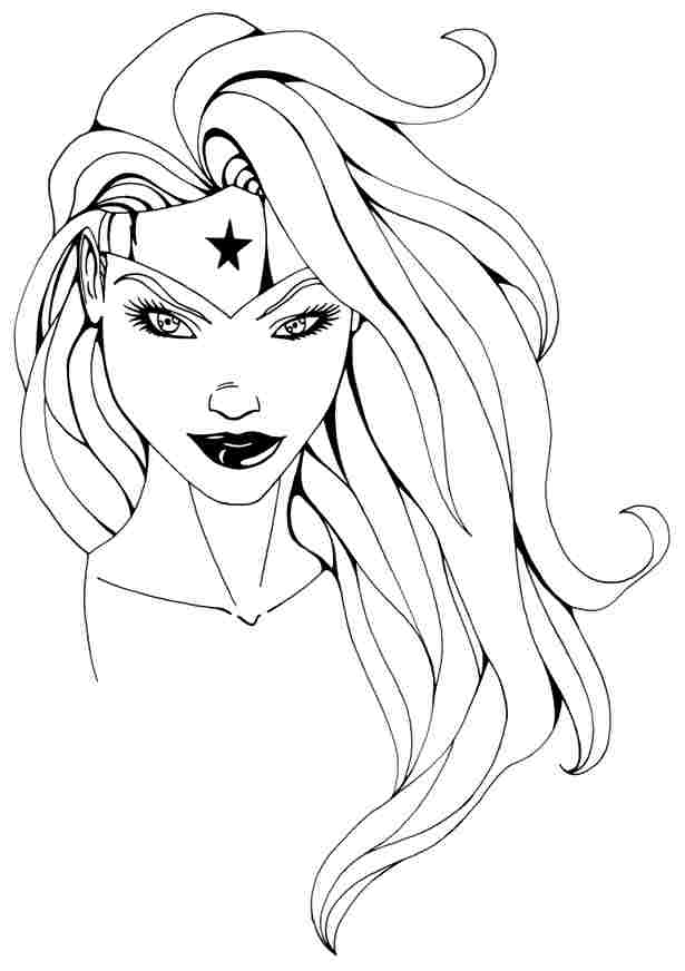 615x872 Coloring Page Wonder Woman (Superheroes)