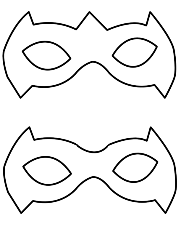 612x763 Drawn Mask Superwoman