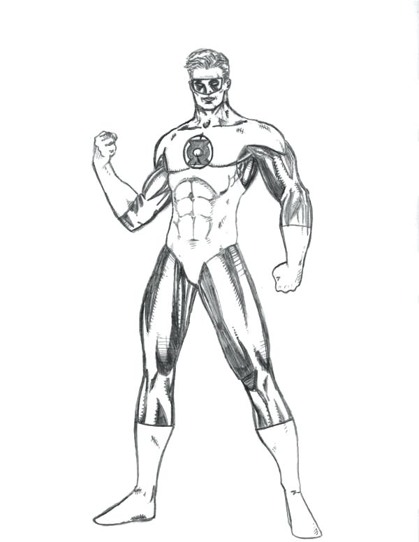 600x776 Excellent Green Lantern Coloring Pages New Printable For Kids