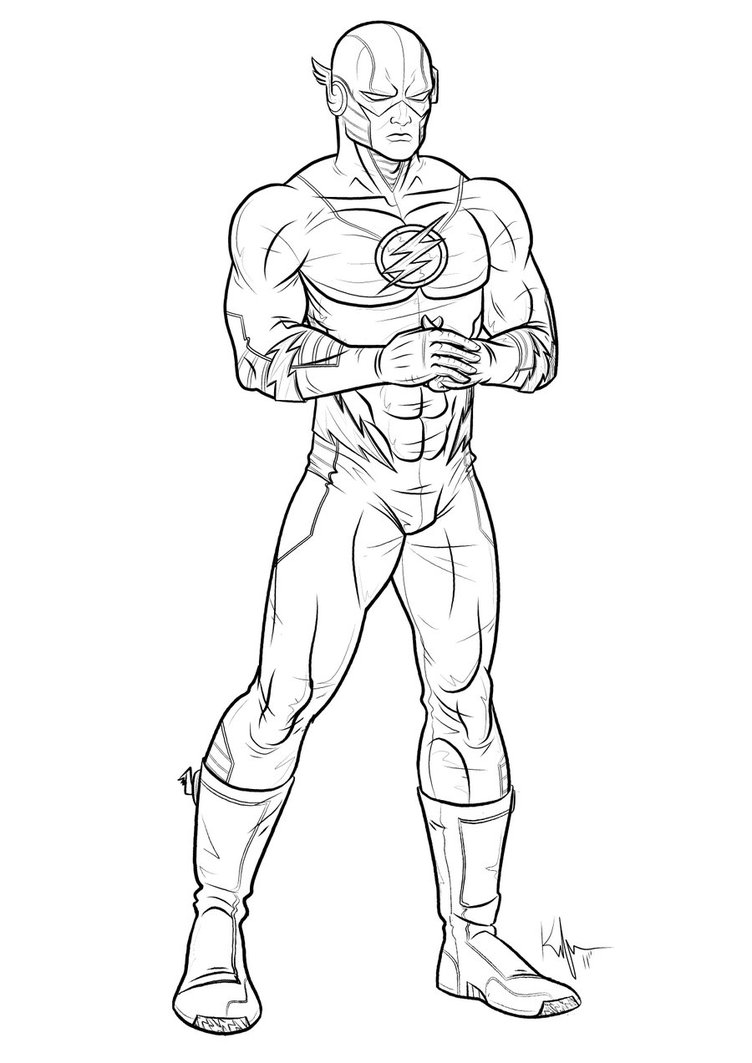 752x1063 Printable Best Flash Superhero Coloring Pages Download And Print