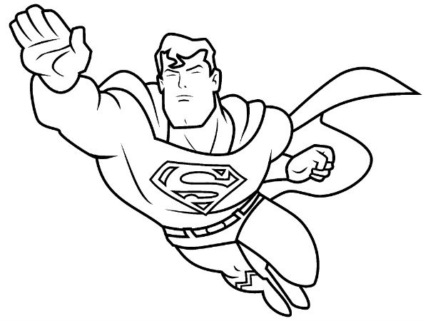 600x450 Superhero Coloring Page