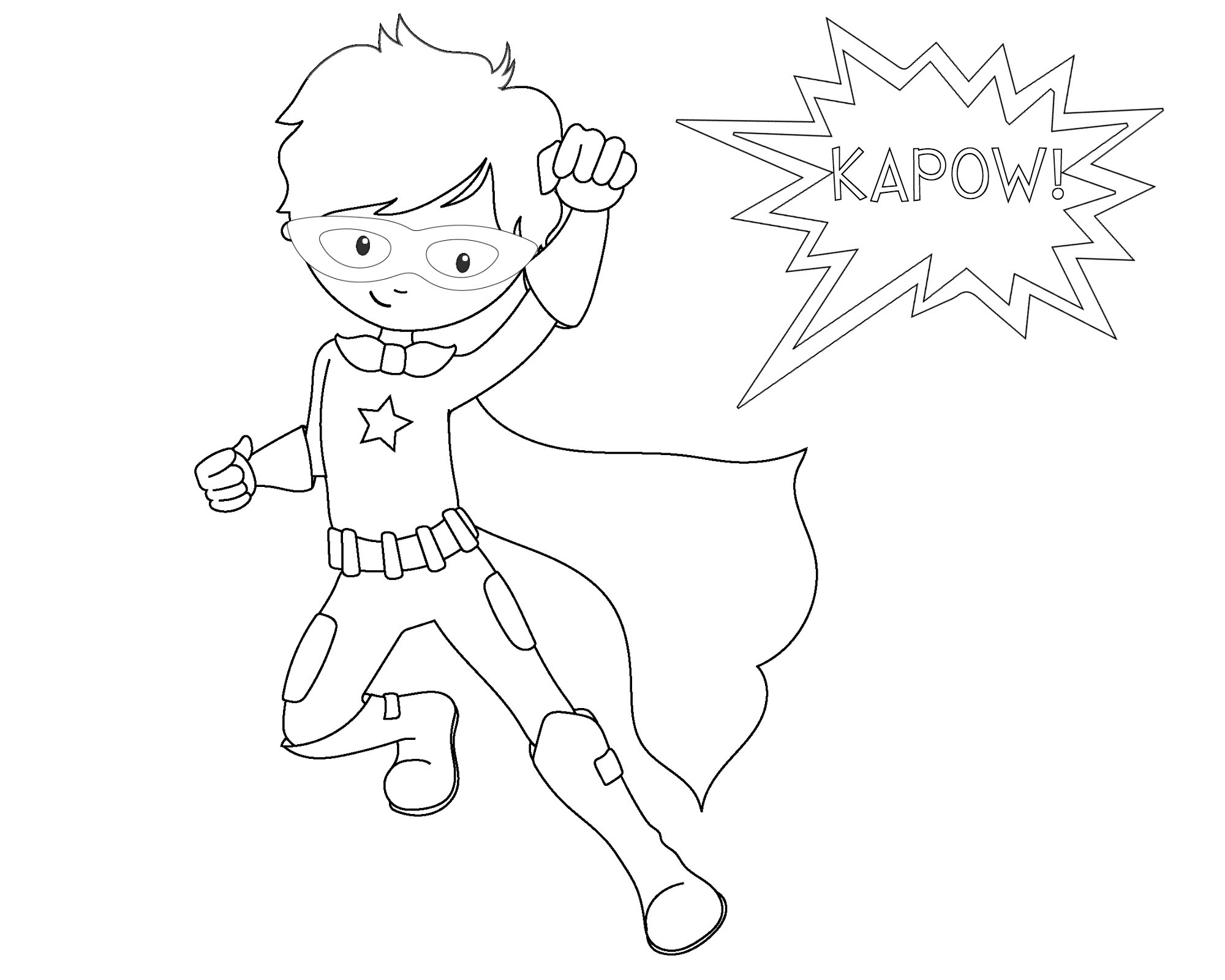 2000x1600 Superhero Coloring Pages Luxury Superhero Coloring Page Printable