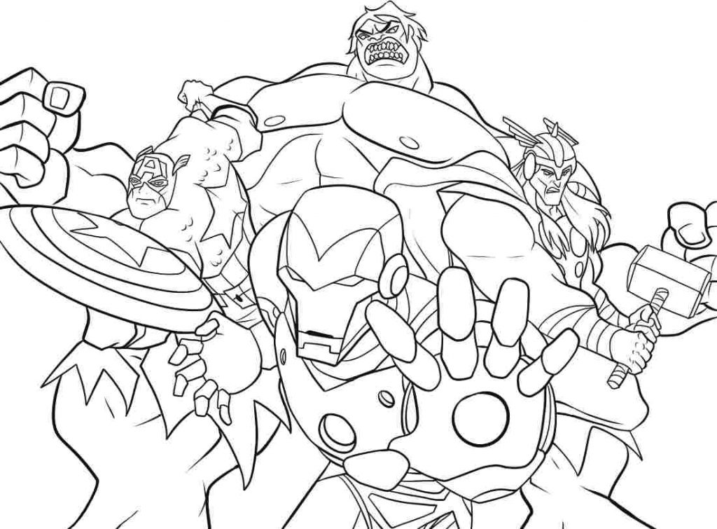 1024x755 Coloring Marvel Comic Book Coloring Pages Drawing Super Heroes